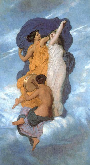 La Danse The Dance 1856 - William-Adolphe Bouguereau reproduction oil painting