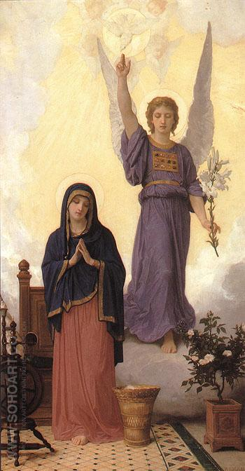 The Annunciation 1888 - William-Adolphe Bouguereau reproduction oil painting