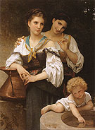 The Secret c 1876 - William-Adolphe Bouguereau reproduction oil painting