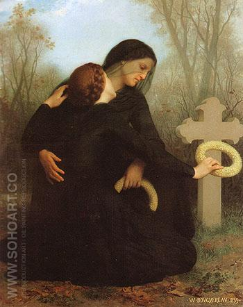 Le jour des morts All Saints Day 1859 - William-Adolphe Bouguereau reproduction oil painting