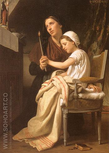 The Thank Offering 1867 - William-Adolphe Bouguereau reproduction oil painting