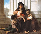 Indigent Family Charity 1865 - William-Adolphe Bouguereau reproduction oil painting