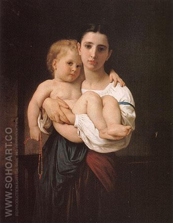 The Elder Sister - William-Adolphe Bouguereau reproduction oil painting