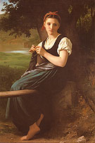 La tricoteuse The Knitting Girl 1869 - William-Adolphe Bouguereau