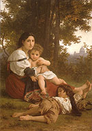 Rest 1879 - William-Adolphe Bouguereau reproduction oil painting