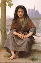 The Bohemian 1890 - William-Adolphe Bouguereau reproduction oil painting