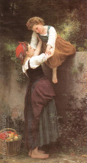 Little Marauders 1872 - William-Adolphe Bouguereau reproduction oil painting