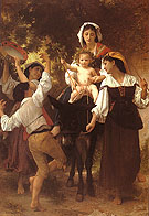 Return from the Hervest 1878 - William-Adolphe Bouguereau reproduction oil painting