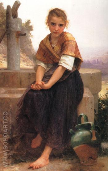 The Broken Pitcher 1891 - William-Adolphe Bouguereau reproduction oil painting
