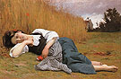 Rest in Harvest 1865 - William-Adolphe Bouguereau reproduction oil painting