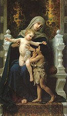 Madonna and Child with St John the Baptist 1882 - William-Adolphe Bouguereau reproduction oil painting