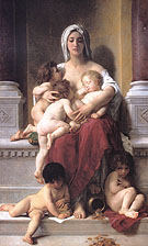 Charity 1878 - William-Adolphe Bouguereau reproduction oil painting