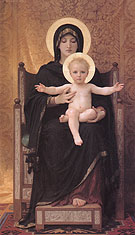 Virgin and Child 1888 - William-Adolphe Bouguereau reproduction oil painting