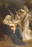 Somg of the Angels 1881 - William-Adolphe Bouguereau reproduction oil painting