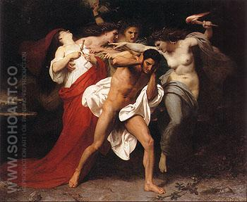 Orestes Pursued by the Furies 1862 - William-Adolphe Bouguereau reproduction oil painting