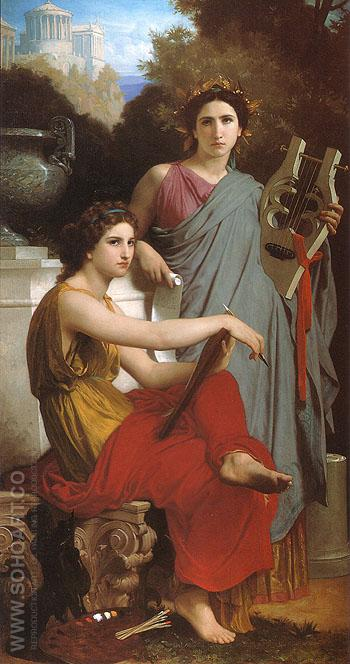 Lart et la litterature Art and Literature 1867 - William-Adolphe Bouguereau reproduction oil painting
