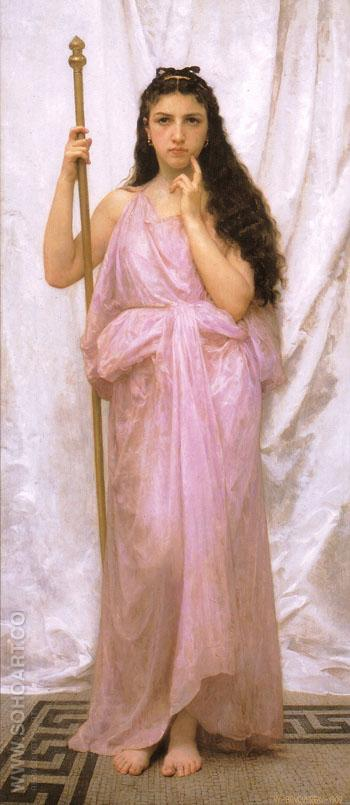 Young Priestess 1902 - William-Adolphe Bouguereau reproduction oil painting