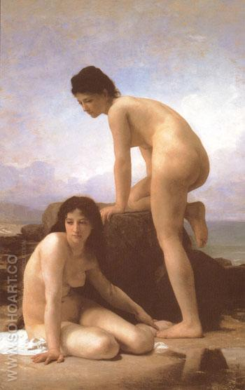 The Bathers 1884 - William-Adolphe Bouguereau reproduction oil painting