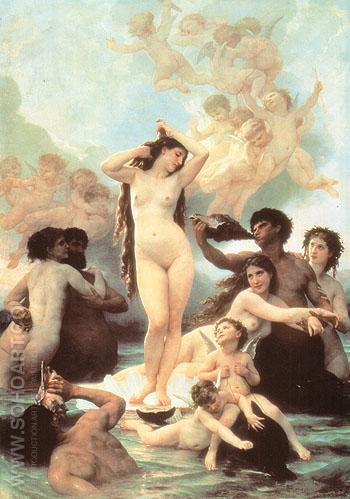 The Birth of Venus 1879 - William-Adolphe Bouguereau reproduction oil painting