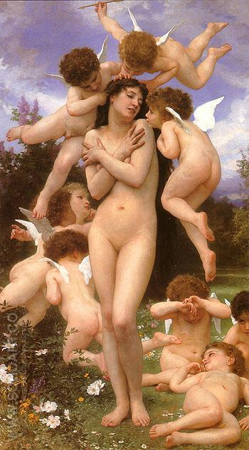 Le printemps The rturn of Spring 1886 - William-Adolphe Bouguereau reproduction oil painting