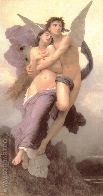 Le ravissement de Psyche The Abduction of Psyche - William-Adolphe Bouguereau reproduction oil painting