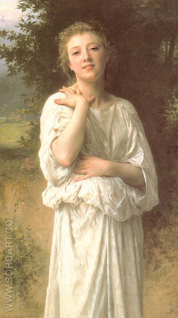 Girl 1895 - William-Adolphe Bouguereau reproduction oil painting