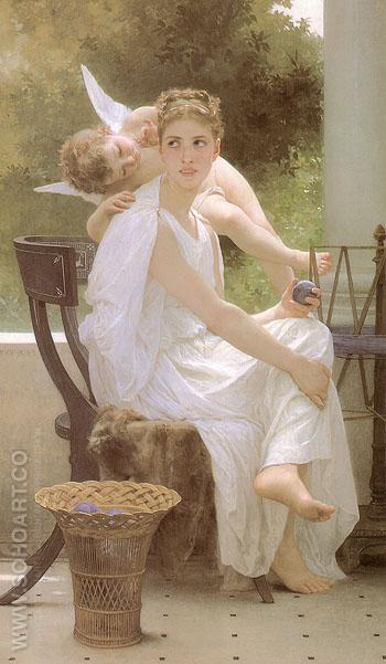 Work Interrupted 1891 - William-Adolphe Bouguereau reproduction oil painting