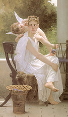 Work Interrupted 1891 - William-Adolphe Bouguereau
