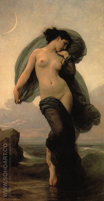 Evening Mood 1882 - William-Adolphe Bouguereau reproduction oil painting