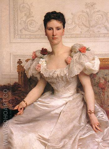 Portrait of Madame la Comtesse de Cambaceres 1895 - William-Adolphe Bouguereau reproduction oil painting