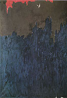November 1953 - Clyfford Still reproduction oil painting