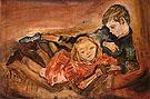 Children Playing 1909 - Oskar Kokoshka reproduction oil painting