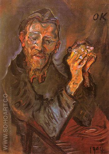 Felix Alberecht harta 1909 - Oskar Kokoshka reproduction oil painting