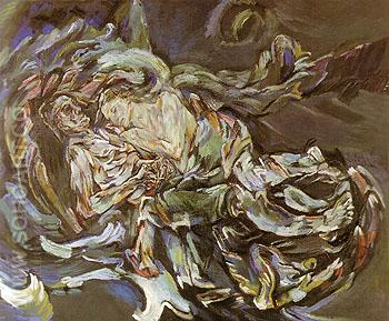 The Bride of the wind 1914 - Oskar Kokoshka reproduction oil painting