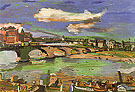 Dresden Augustus Bridge with Steamboat II 1923 - Oskar Kokoshka reproduction oil painting