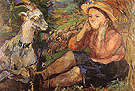 Pan Trudl with Goat 1931 - Oskar Kokoshka reproduction oil painting