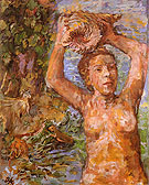 Nymph 1936 - Oskar Kokoshka reproduction oil painting