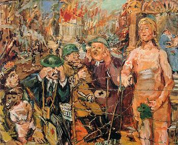 Anschluss Alice in Wonderland 1942 - Oskar Kokoshka reproduction oil painting