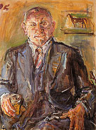 Louis Krohnberg 1950 - Oskar Kokoshka reproduction oil painting