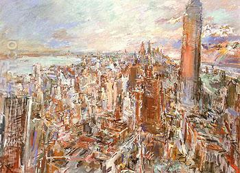 New York Manhattan with the Empire State Buiding 1966 - Oskar Kokoshka reproduction oil painting
