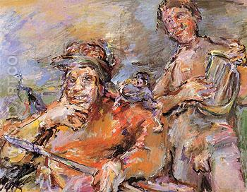 Saul and David 1966 - Oskar Kokoshka reproduction oil painting