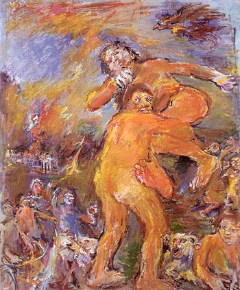 Theseus and Antiope 1958 - Oskar Kokoshka reproduction oil painting