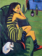 Marcella 1910 - Ernst Kirchner reproduction oil painting