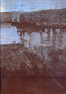 Nocturne in Blue and Gold Valparaiso Bay 1866 - James McNeill Whistler reproduction oil painting