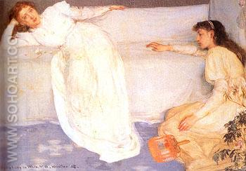 Symphony in White No 3 1865 - James McNeill Whistler reproduction oil painting