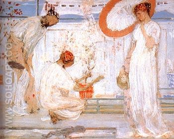 The White Symphony Three Girls 1868 - James McNeill Whistler reproduction oil painting