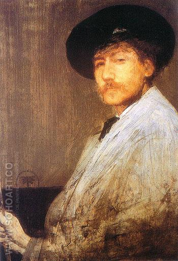 Arrangment in Gray Portrait of the Painter - James McNeill Whistler reproduction oil painting