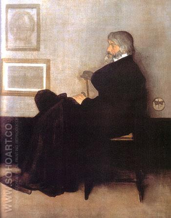 Arrangement in Gray and Black No2 Portrait of Tomas Carlyle 1872 - James McNeill Whistler reproduction oil painting