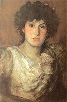 Portrait of Lilian Woakes 1890 - James McNeill Whistler reproduction oil painting