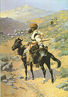 Indian Trapper - Frederic Remington reproduction oil painting